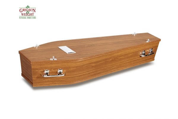 Ashlin Jailo Teak Satin Coffin