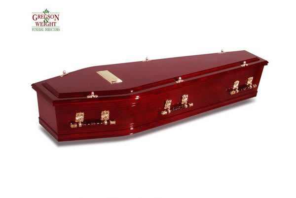 Ashwood Rosewood Coffin