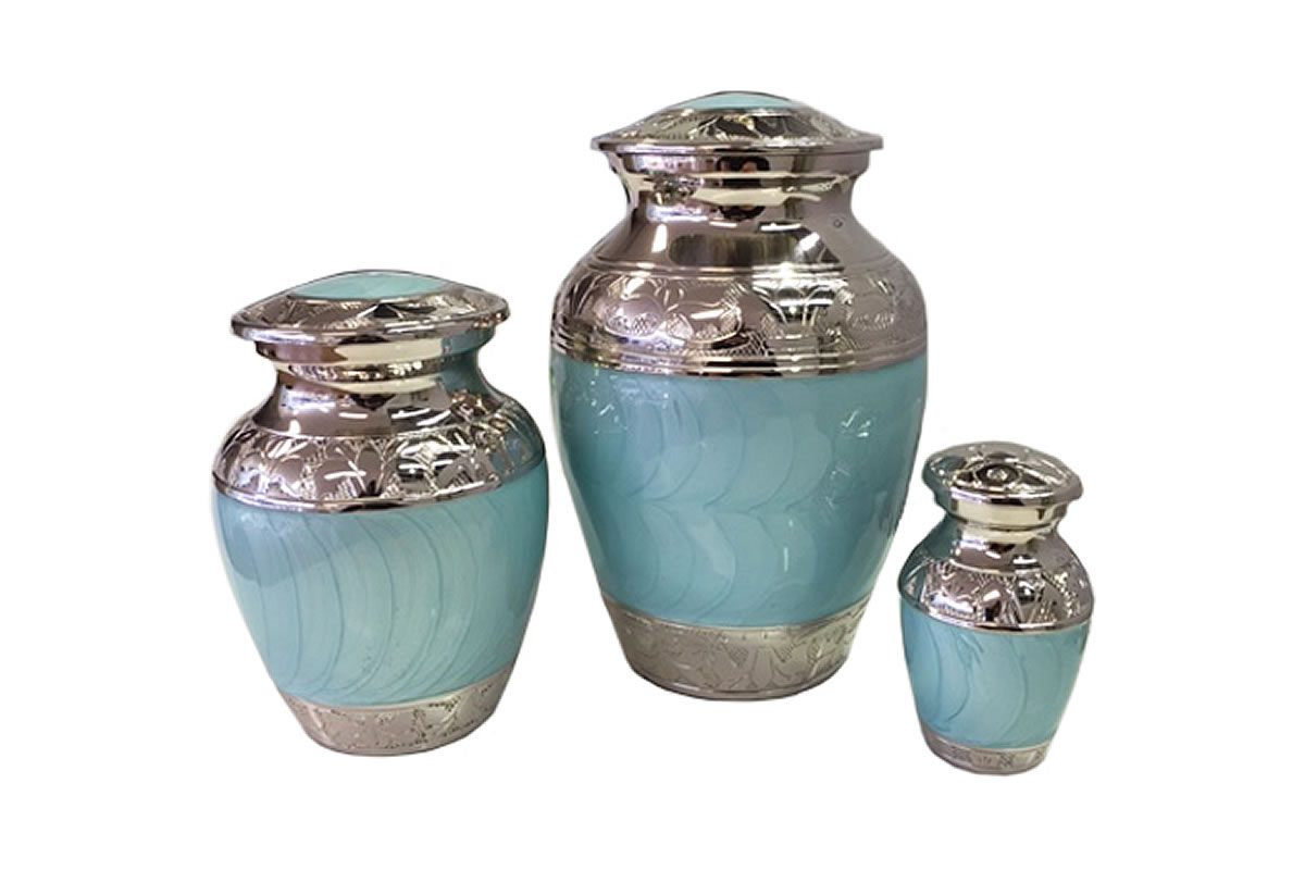 Blue and Silver Urn