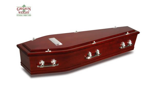 Ashwood Cedar Satin Coffin